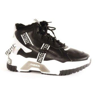 Кроссовки подростковые для девочек T56-1черный SEBEN фото